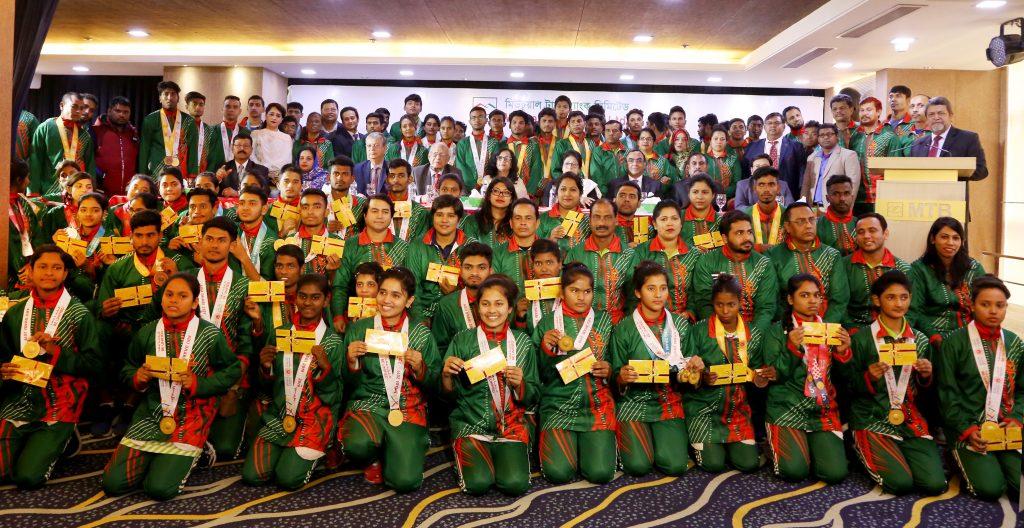 স্পেশাল অলিম্পিকস বাংলাদেশ দলকে  এমটিবি ফাউন্ডেশনের সংবর্ধনা